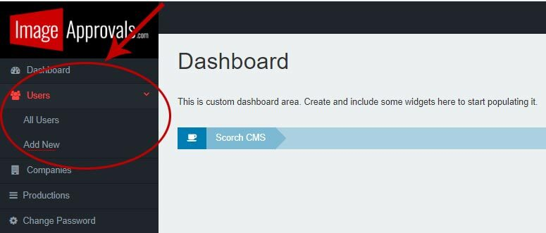 Screenshot showing how to add a new actor on the Image Approvals platform.